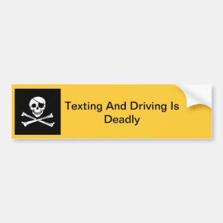 Pegatina para el parachoques de Texting y de la co Pegatina Para Auto