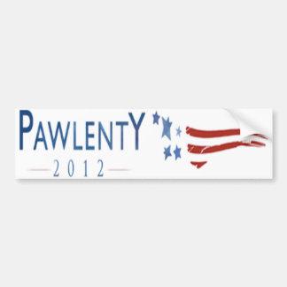 Pegatina para el parachoques de Tim Pawlenty 2012  Etiqueta De Parachoque