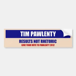 Pegatina para el parachoques de Tim Pawlenty Etiqueta De Parachoque