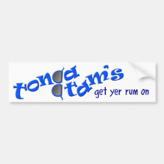 ¡Pegatina para el parachoques de Tonga Tam! Etiqueta De Parachoque
