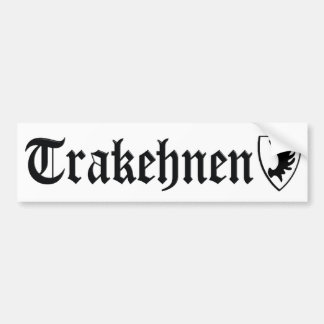 Pegatina para el parachoques de Trakehnen Pegatina De Parachoque