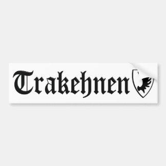 Pegatina para el parachoques de Trakehnen Pegatina Para Auto