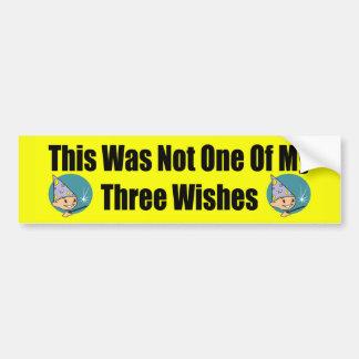 Pegatina para el parachoques de tres deseos pegatina para auto