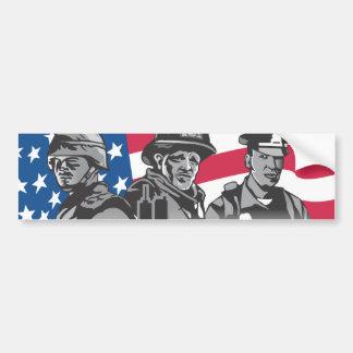 Pegatina para el parachoques de tres héroes pegatina de parachoque