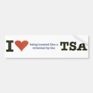 Pegatina para el parachoques de TSA Pegatina De Parachoque