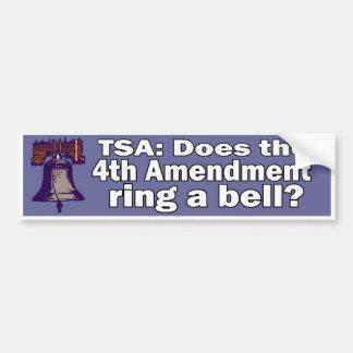 Pegatina para el parachoques de TSA Pegatina Para Auto