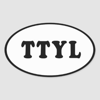 Pegatina para el parachoques de TTYL