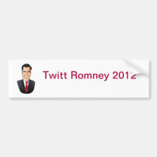 Pegatina para el parachoques de Twitt Romney Pegatina Para Auto