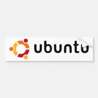 Pegatina para el parachoques de Ubuntu Pegatina De Parachoque