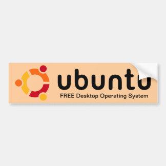 Pegatina para el parachoques de Ubuntu Pegatina Para Auto