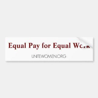 pegatina para el parachoques de UniteWomen.org Pegatina Para Auto