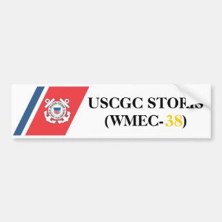 Pegatina para el parachoques de USCGC STORIS (WMEC Pegatina Para Auto