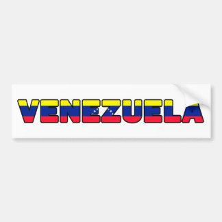 Pegatina para el parachoques de Venezuela Pegatina Para Auto