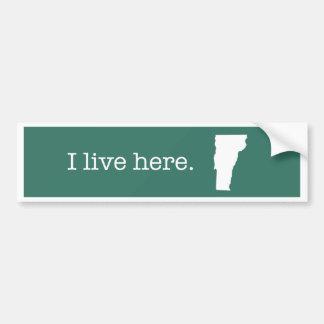 Pegatina para el parachoques de Vermont Pegatina Para Auto