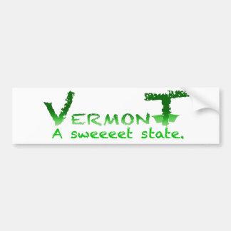 Pegatina para el parachoques de Vermont Sweeeet Pegatina De Parachoque