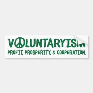 Pegatina para el parachoques de Voluntaryism Pegatina Para Auto
