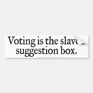 Pegatina para el parachoques de votación etiqueta de parachoque