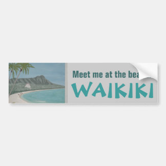 Pegatina para el parachoques de WAIKIKI Etiqueta De Parachoque