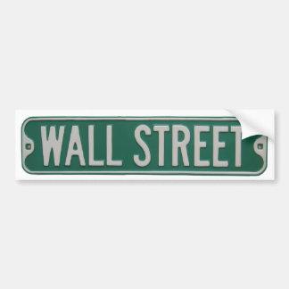 Pegatina para el parachoques de Wall Street Etiqueta De Parachoque