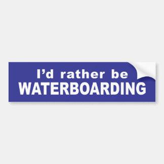 Pegatina para el parachoques de Waterboard Pegatina Para Auto