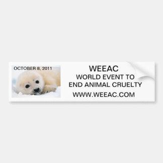 Pegatina para el parachoques de WEEAC Pegatina Para Auto
