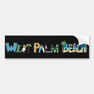 Pegatina para el parachoques de West Palm Beach Pegatina De Parachoque