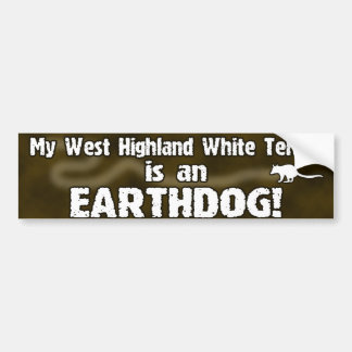 Pegatina para el parachoques de Westie Earthdog Pegatina De Parachoque
