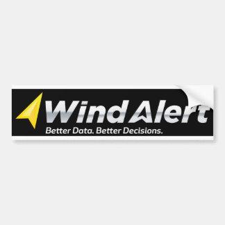 ¡Pegatina para el parachoques de WindAlert! Pegatina Para Auto