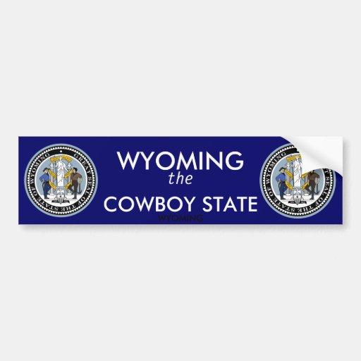 Pegatina para el parachoques de Wyoming Pegatina Para Auto