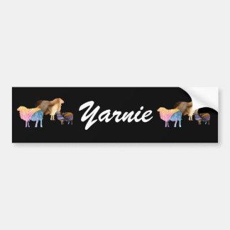 Pegatina para el parachoques de Yarnie de las ovej Pegatina Para Auto