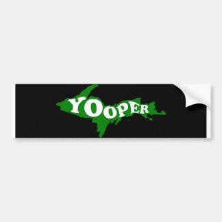 Pegatina para el parachoques de Yooper Pegatina Para Auto