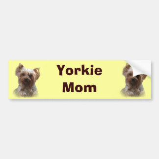 Pegatina para el parachoques de Yorkshire Terrier Etiqueta De Parachoque