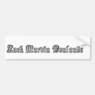 Pegatina para el parachoques de Zack Marvin Coulan Pegatina Para Auto