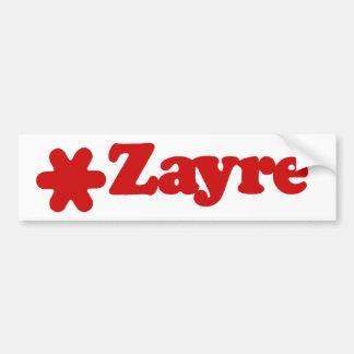 Pegatina para el parachoques de Zayre Etiqueta De Parachoque
