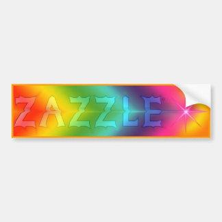 "Pegatina para el parachoques de ""Zazzle"" Etiqueta De Parachoque"