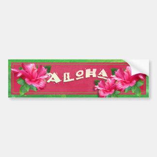 Pegatina para el parachoques decorativa del hibisc pegatina de parachoque