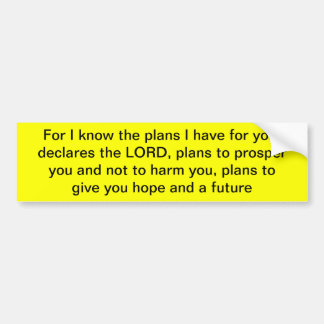 Pegatina para el parachoques del 29:11 de Jeremiah Pegatina Para Auto