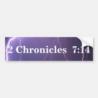 Pegatina para el parachoques del 7:14 de 2 crónica pegatina para auto