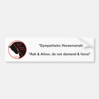Pegatina para el parachoques del abuso del caballo pegatina para auto