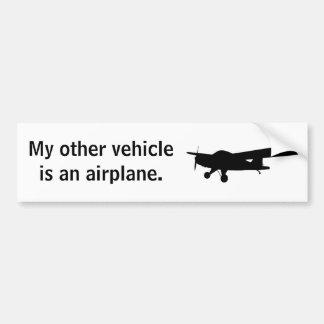 Pegatina para el parachoques del aeroplano pegatina para auto