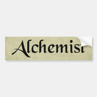 Pegatina para el parachoques del alquimista etiqueta de parachoque