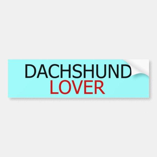 Pegatina para el parachoques del amante del Dachsh Pegatina De Parachoque