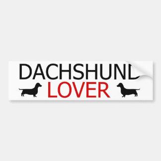 Pegatina para el parachoques del amante del Dachsh Pegatina Para Auto