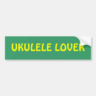 Pegatina para el parachoques del AMANTE del UKULEL Pegatina Para Auto