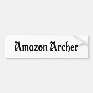 Pegatina para el parachoques del Amazonas Archer Etiqueta De Parachoque