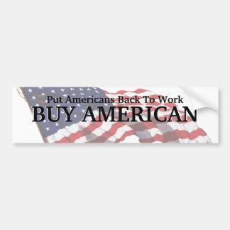 Pegatina para el parachoques del americano de la pegatina para auto