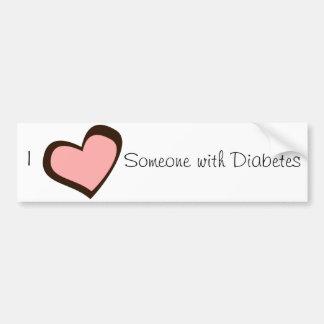 Pegatina para el parachoques del amor de la diabet pegatina para auto
