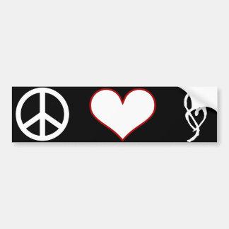 Pegatina para el parachoques del amor de la paz de pegatina para auto