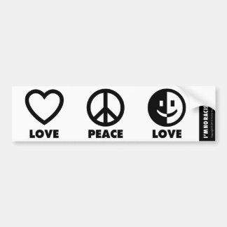 Pegatina para el parachoques del amor de la paz pegatina para auto