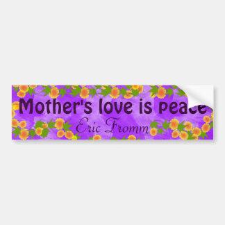 Pegatina para el parachoques del amor de madre pegatina para auto